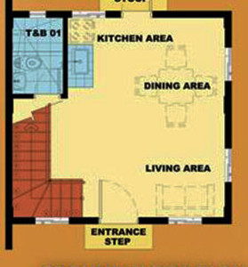 Camella Riverfront - BELLA - Ground Floor Plan