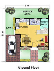 Camella Riverfront - DRINA - Ground Floor Plan